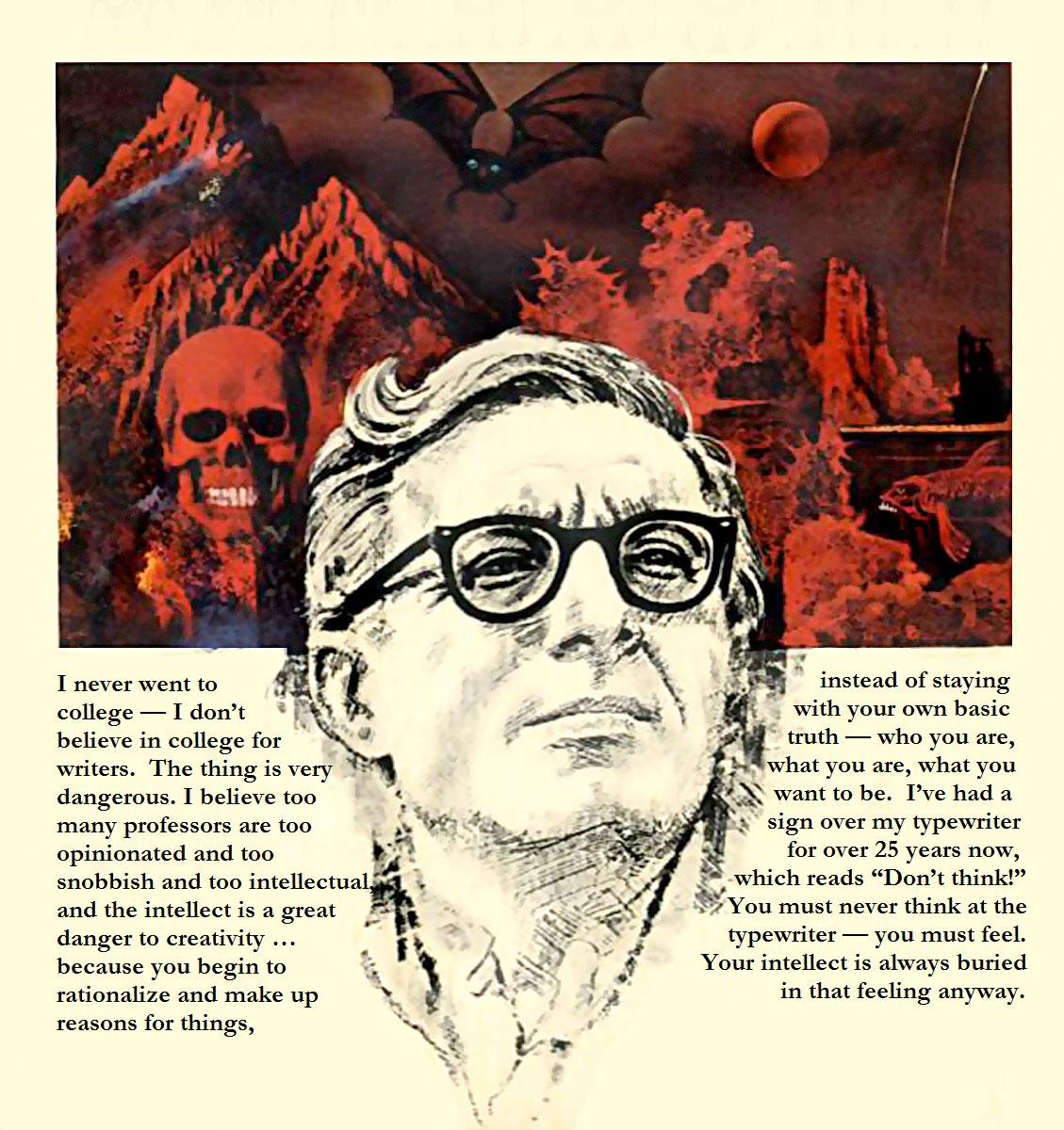 an introduction to the literature by ray bradbury The story is a complicated piece of literature that can and has produce many different responses on the topic discussed a sound of thunder showcased ray bradbury's un-paralleled knowledge on time and the butterfly effect ray bradbury was a.