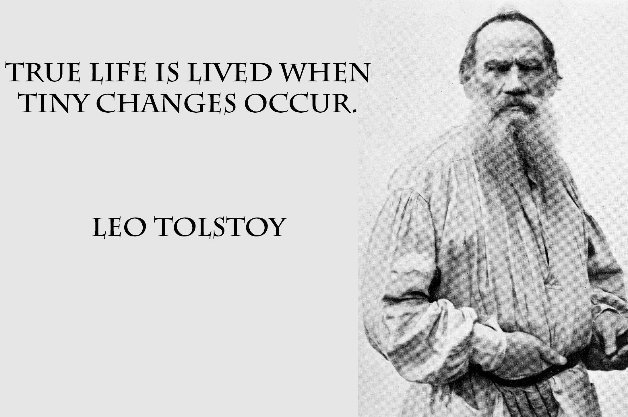 a description of the three kinds of material by leo tolstoys novel Get free homework help on jon krakauer's into the wild: book mccandless gave westerberg a 1942 edition of leo tolstoy's novel war and some three months later.